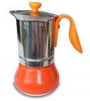 G.A.T. Allegra Espressokocher Mokkakocher für 6 Tassen, orange